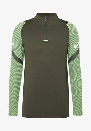 DRY STRIKE DRILL - Sports shirt - cargo khaki/cargo khaki/white