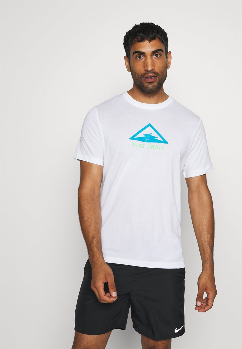 Nike Performance - DRY TEE TRAIL - Camiseta estampada - white