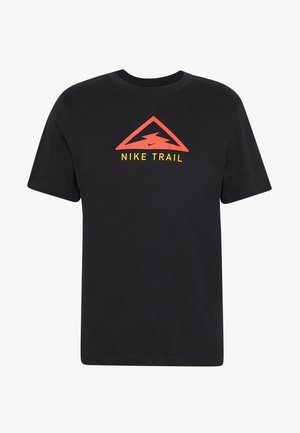 DRY TEE TRAIL - Camiseta estampada - black
