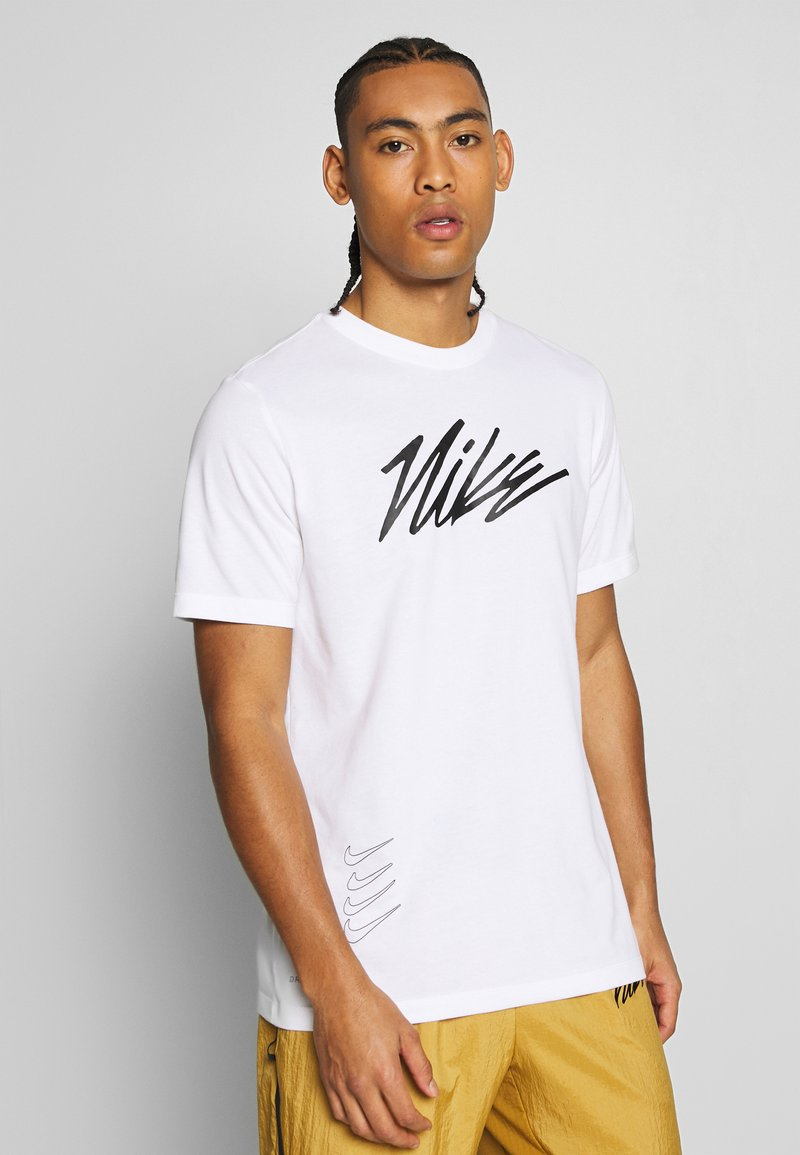 Nike Performance - DRY TEE PROJECT X - T-shirt con stampa - white