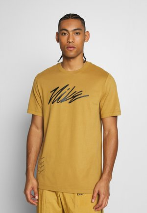 DRY TEE PROJECT X - T-shirt con stampa - wheat