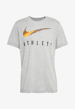 DRY TEE - T-shirt con stampa - dark grey heather