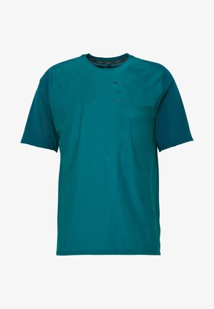 HYBRID - T-shirt print - midnight turq/bright spruce/reflect black