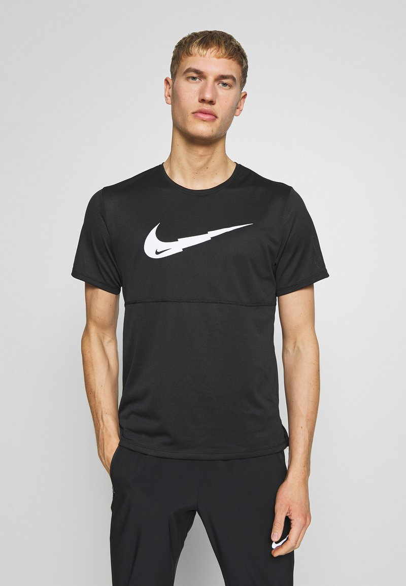 Nike Performance - BREATHE RUN - T-shirt imprimé - black