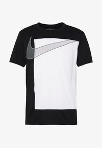 Nike Performance - SUPERSET  - Print T-shirt - black/white - 3