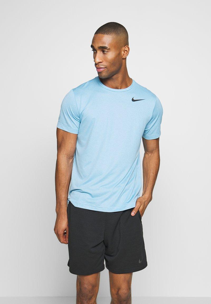 Nike Performance - DRY - Camiseta básica - laser blue/psychic blue/heather/black