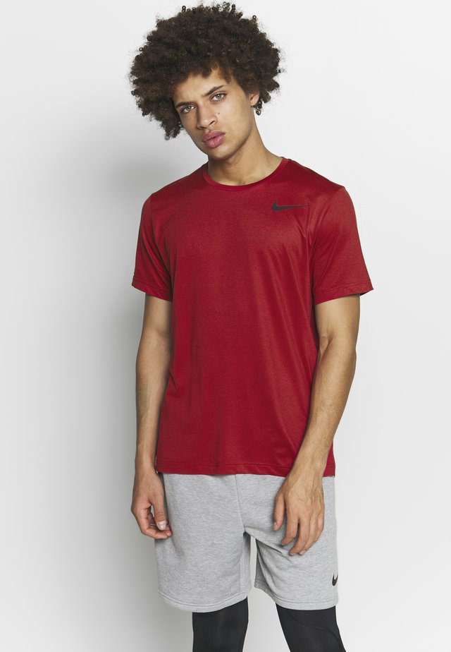 DRY - T-shirt basic - night maroon/university red/heather/black