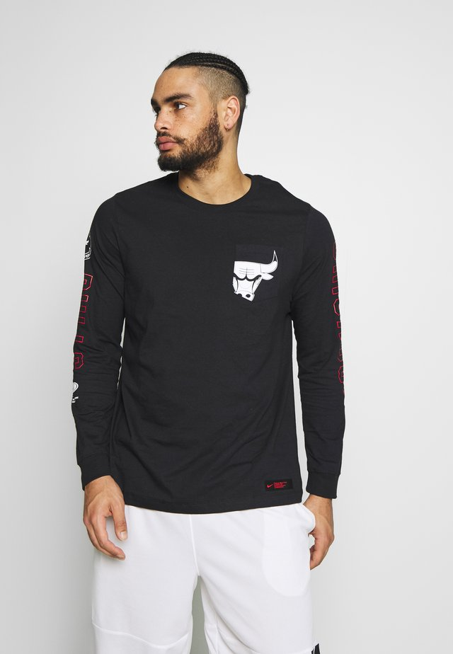 NBA CHICAGO BULLS LONG SLEEVE - Klubové oblečení - black