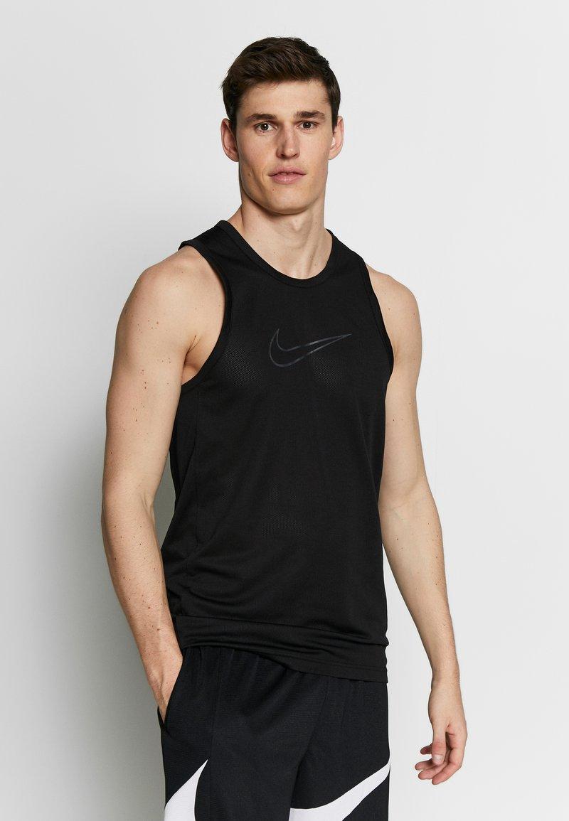 Nike Performance - DRY CROSSOVER - Funktionströja - black/white