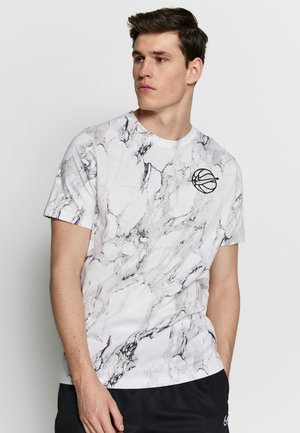 MARBLE TEE  - T-shirt con stampa - white/black