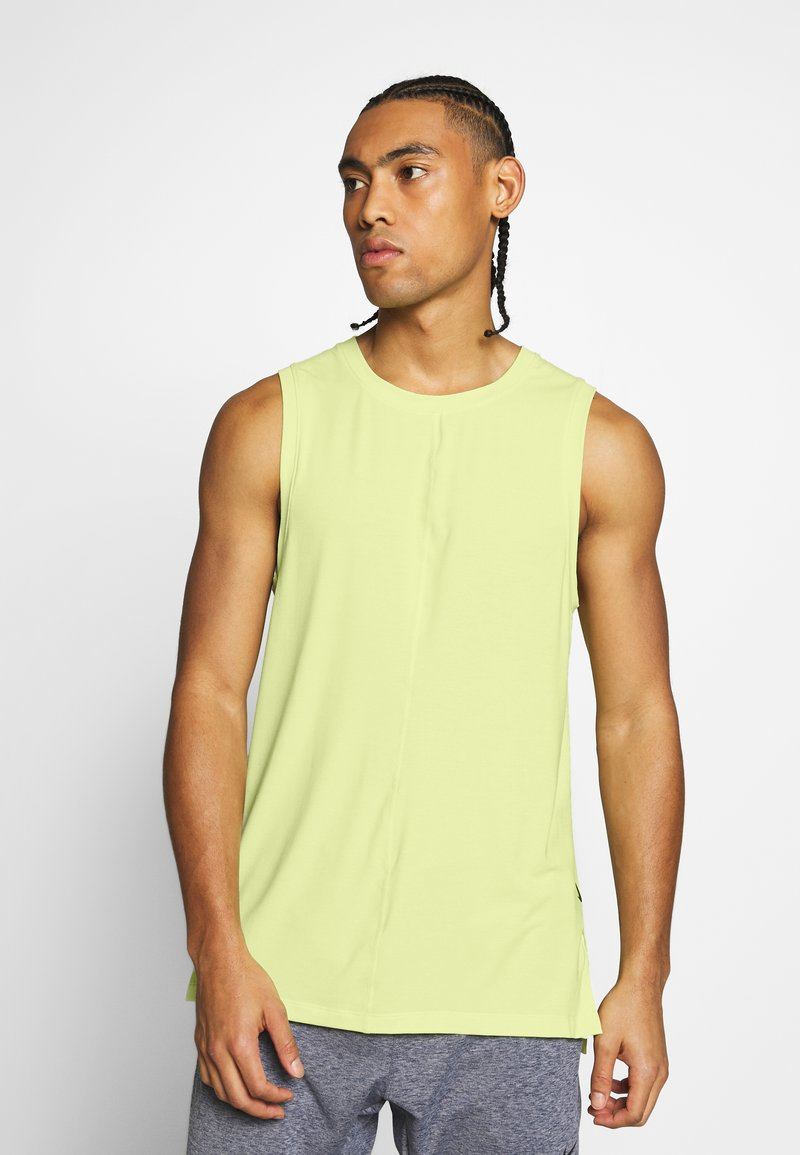 Nike Performance - DRY TANK YOGA - Camiseta de deporte - limelight/black