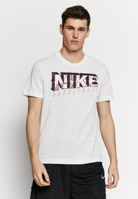Nike Performance - DRY MARBLE TEE - Triko spotiskem - white - 0