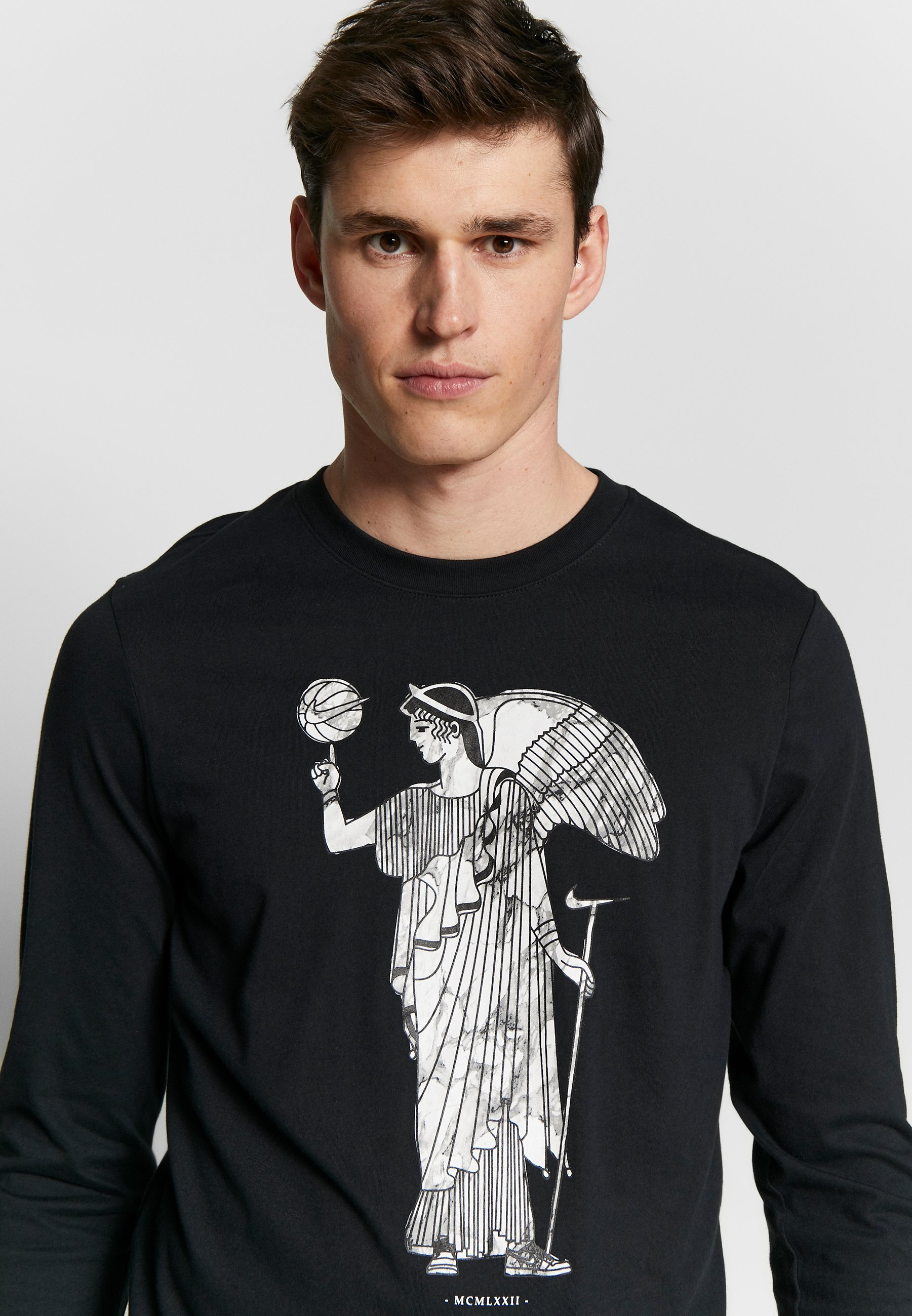 DRY BASKETBALL MARBLE LONG SLEEVE T shirt de sport black