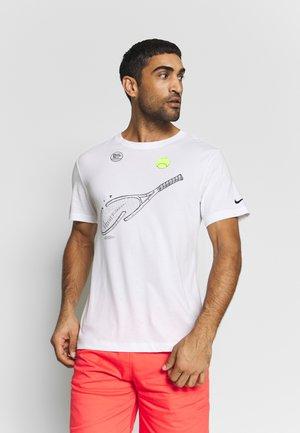 TEE RACQUET - T-shirt print - white