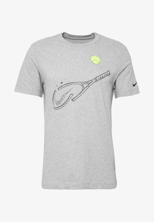 TEE RACQUET - T-shirt imprimé - dark grey heather