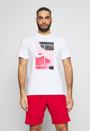 TEE COURT  - Camiseta estampada - white