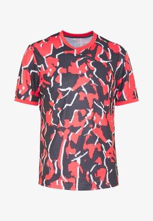 DRY TOP TEAM - T-Shirt print - ember glow/white