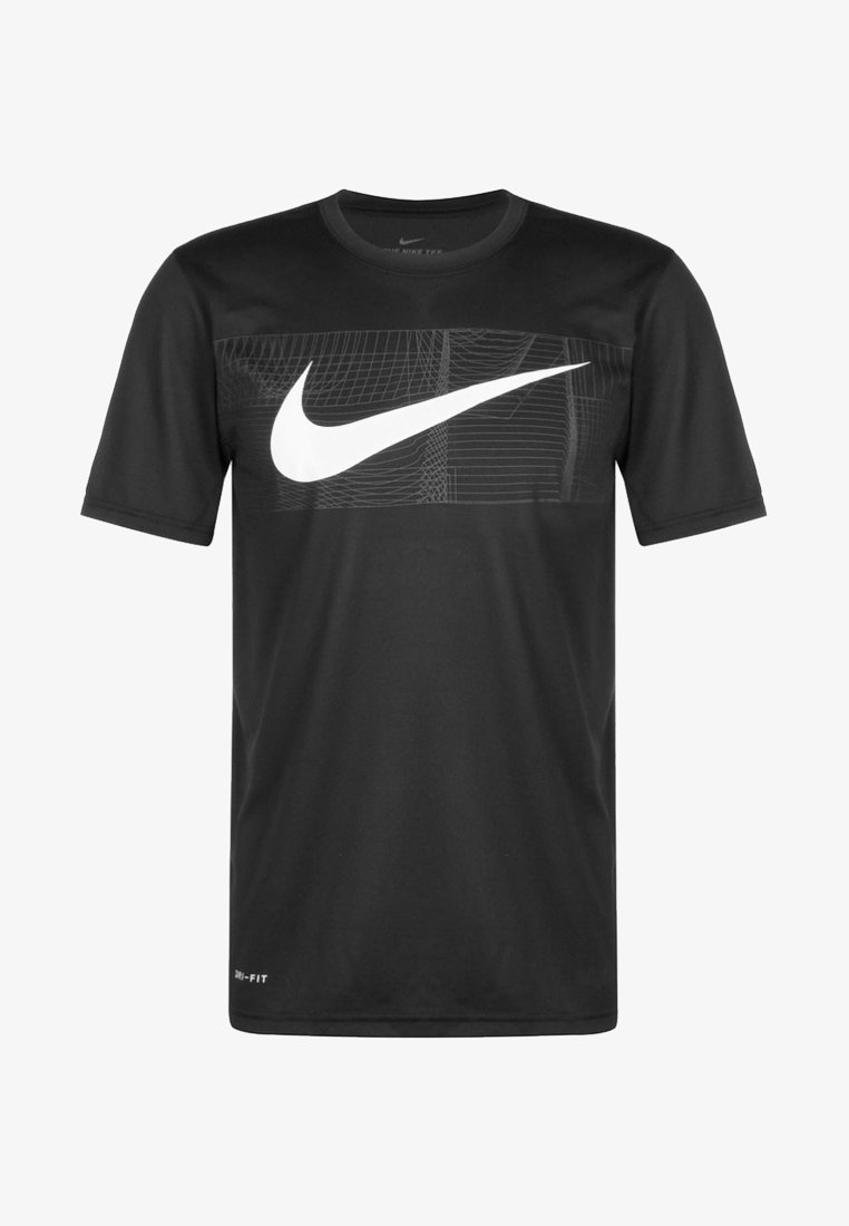 Nike Performance - DRY TEE LEG - Print T-shirt - black