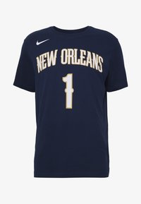 Nike Performance - NBA ZION WILLIAMSON NEW ORLEANS PELICANS NAME NUMBER TEE - Fanartikel - college navy - 5