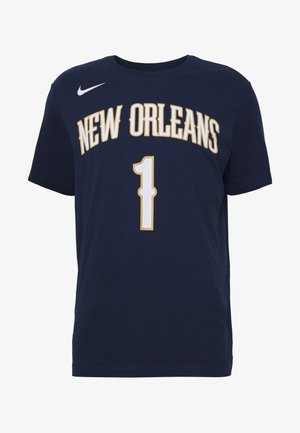 NBA ZION WILLIAMSON NEW ORLEANS PELICANS NAME NUMBER TEE - Klubové oblečení - college navy