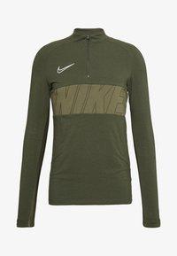 Nike Performance - DRY ACADEMY - Sports shirt - cargo khaki/white - 4