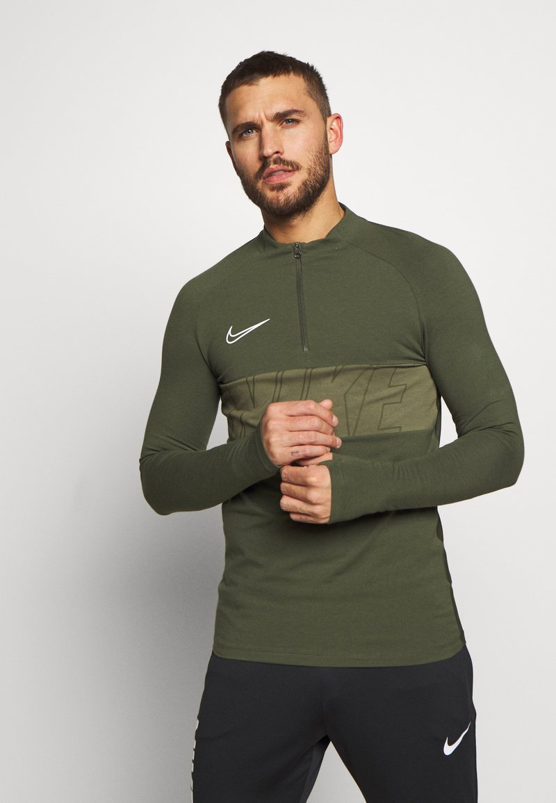 Nike Performance - DRY ACADEMY - Sports shirt - cargo khaki/white