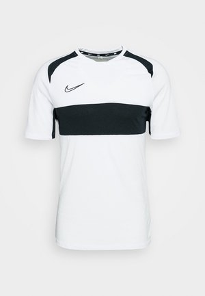 DRY ACADEMY  - Camiseta estampada - white/black