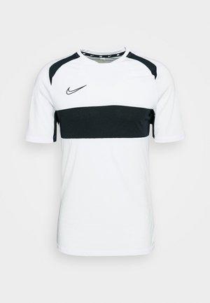 NIKE DRI-FIT ACADEMY KURZARM-FUBALLOBERTEIL FUR HERREN - Print T-shirt - white/black