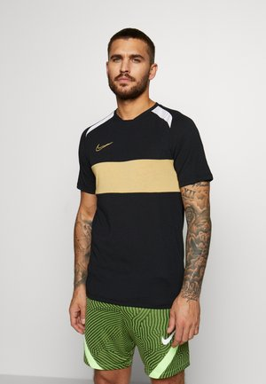 DRY ACADEMY  - T-shirt con stampa - black/white/jersey gold