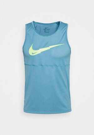 RUN TANK - Sports shirt - cerulean/silver