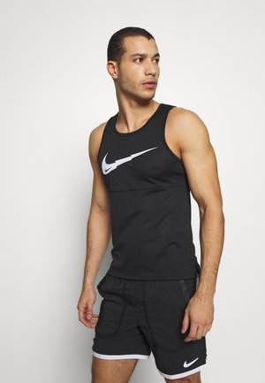 RUN TANK - Sportshirt - black