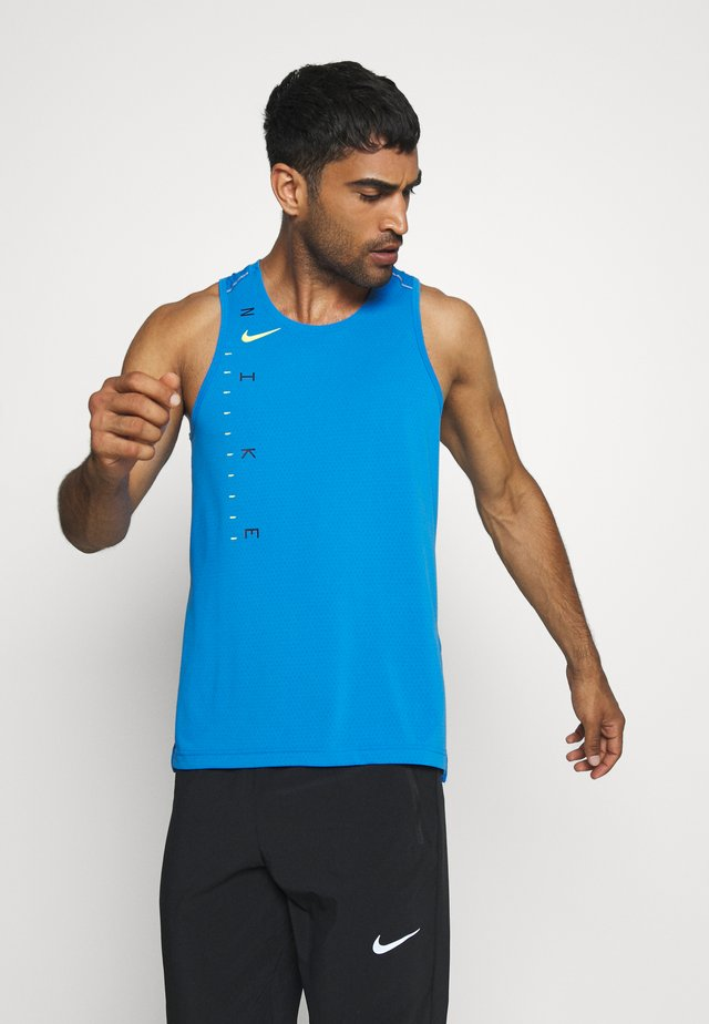 DRY MILER TANK TECH - Sports shirt - pacific blue/lemon