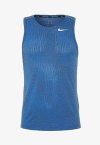 Nike Performance - MILER JAQUARD  - Camiseta de deporte - dark smoke grey/reflective silver - 4