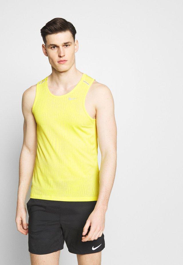 MILER JAQUARD  - Camiseta de deporte - opti yellow/white/silver