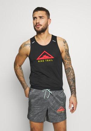RISE 365 TANK TRAIL - Camiseta de deporte - black/laser crimson