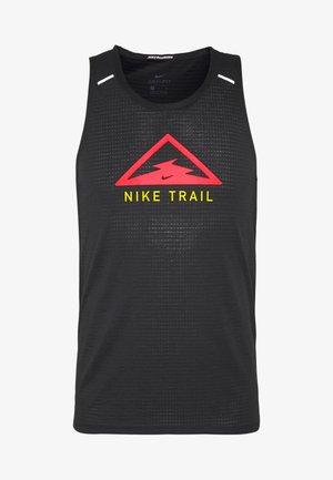 RISE 365 TANK TRAIL - Sports shirt - black/laser crimson
