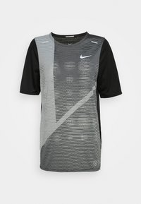 Nike Performance - RISE HYBRID  - Print T-shirt - black/grey fog/silver - 4