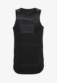 Nike Performance - RISE 365 TANK HYBRID - Funktionsshirt - black/grey fog/silver - 1
