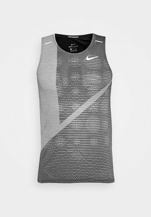 RISE 365 TANK HYBRID - Sports shirt - black/grey fog/silver