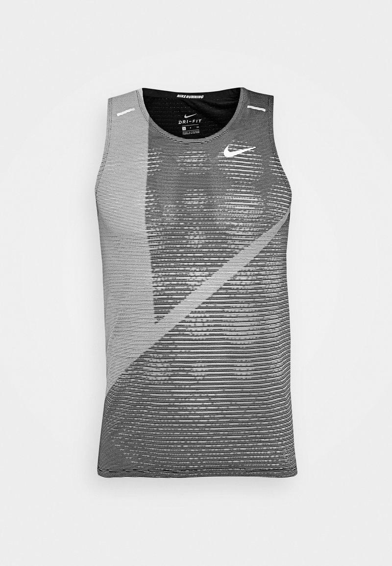 Nike Performance - RISE 365 TANK HYBRID - Funktionsshirt - black/grey fog/silver