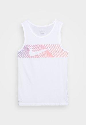 TANK - Sports shirt - white/hyper crimson