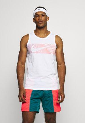 TANK - Koszulka sportowa - white/hyper crimson