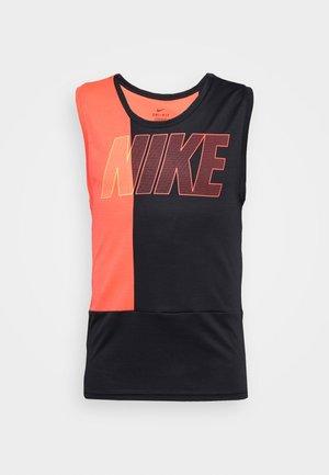DRY SUPERSET TANK - Sports shirt - black/laser crimson