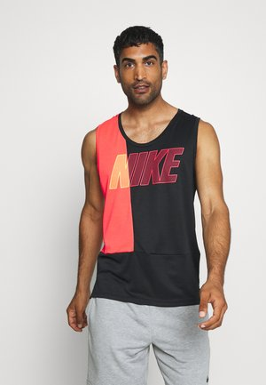 DRY SUPERSET TANK - Camiseta de deporte - black/laser crimson