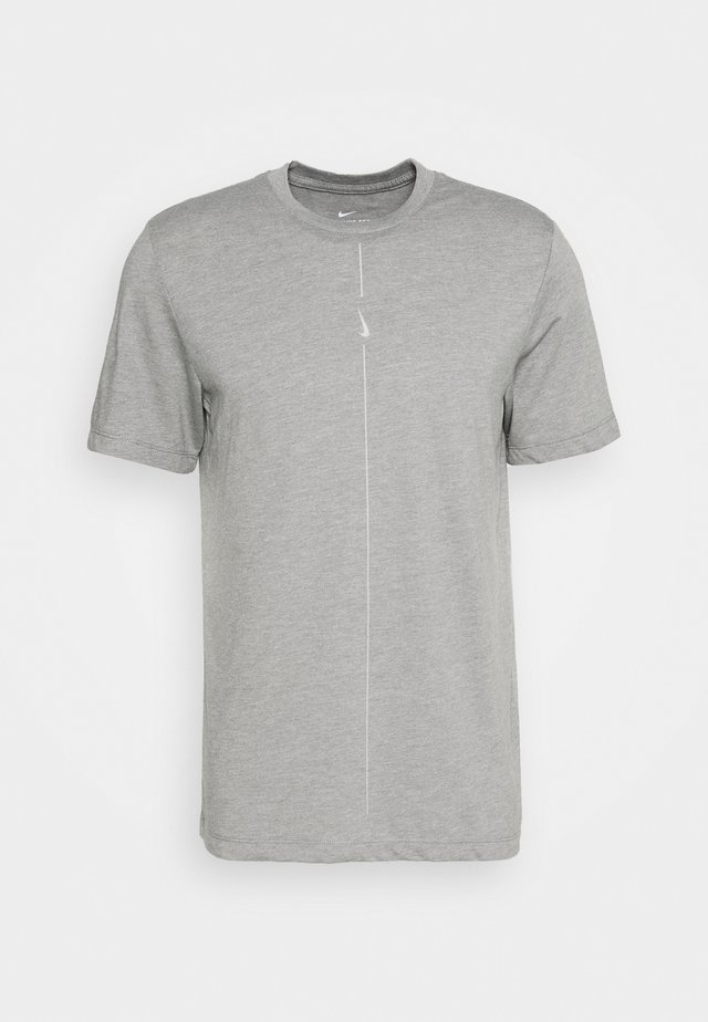 DRY TEE YOGA - T-shirts basic - iron grey/smoke grey