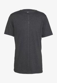 Nike Performance - DRY TEE YOGA - Basic T-shirt - black/iron grey - 2