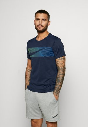 Camiseta estampada - obsidian/white