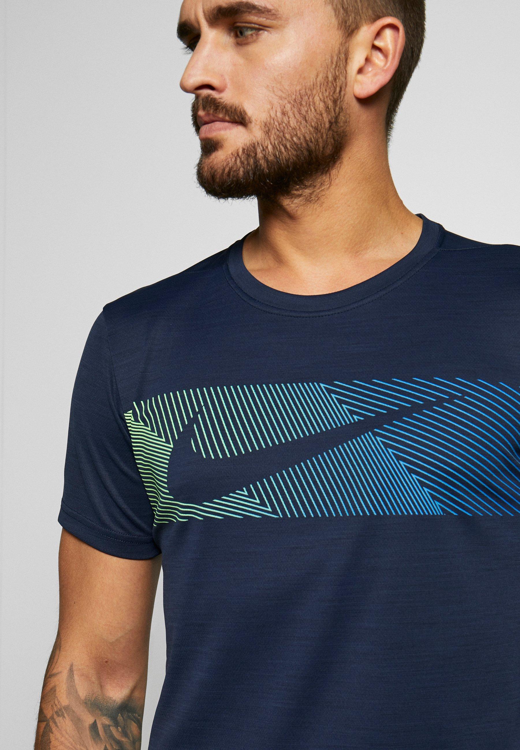 DRY SUPERSET T shirt imprimé obsidianwhite