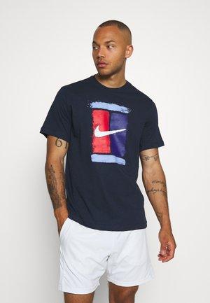 TEE COURT - Print T-shirt - obsidian