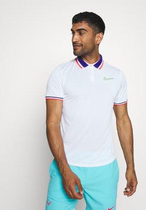 SLAM - T-shirt sportiva - white/ghost green